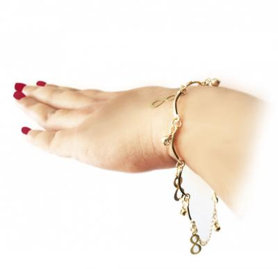 Ayisha Jewellery 22K Gold Plated Ladies Fancy bracelet, AY 021