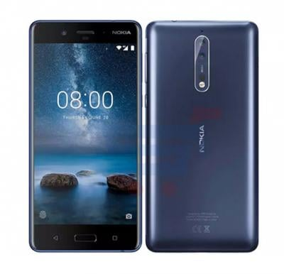 Nokia 8 Smartphone, 5.3 Inch Display, Android 7.1.1 OS, 4GB RAM, 64GB Storage, Corning Gorilla Glass v5, Dual SIM, Dual Camera, 4G LTE, Tempered Blue