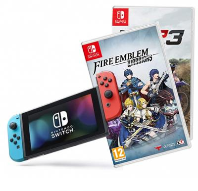 Nintendo Switch Console +1 Accessories +Fire Emblem and MX Gp 3 games  Offer pack
