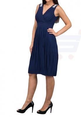 TFNC London Monia Midi Party Dress Navy - ELBZ 6209  - L