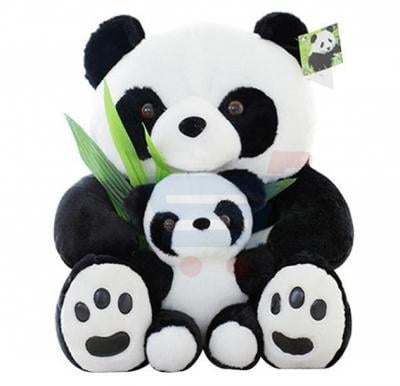 Sitting Mother and Baby Panda Plush Toys
