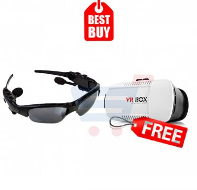 Combo Offer! Bluetooth Sunglass Headphone, Bluetooth 4.1 and Music Headset Headphone For Smart Phone & Get VR Box Virtual Reality 3D Glasses FREE