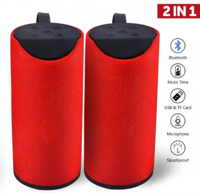 2 Piece Pack of Portable Wireless Bluetooth Speaker TG113