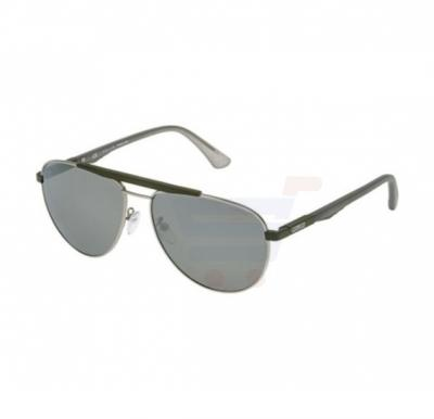 Police Aviator Silver Grey/Dark Grey Frame & Grey Mirrored Sunglasses For Men - SPL364-510X