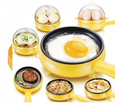 Royalmark Electric Multi Functional Fry Pan With 7 Pcs Egg Steamer 350 Watts, RMEM-1122