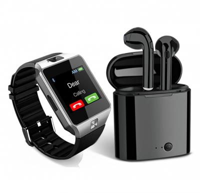 2 in 1 Bundle Offer Twin Bluetooth Headset With Power Bank Black And Get MidSun M9 Smart Watch