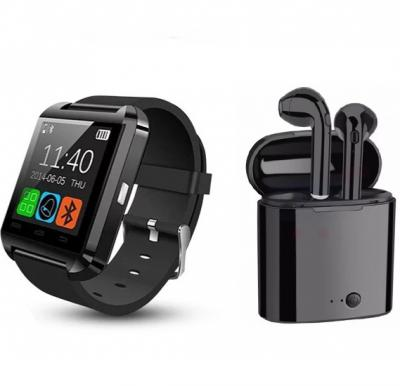 2 In 1 Bundle Offer Twin Bluetooth Headset With Power Bank Black And Get Bluetooth Smart Watch Free