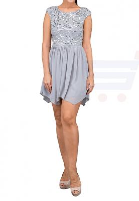 TFNC London Grace Sequince Skater Party Dress Grey - LNB 14970  - L