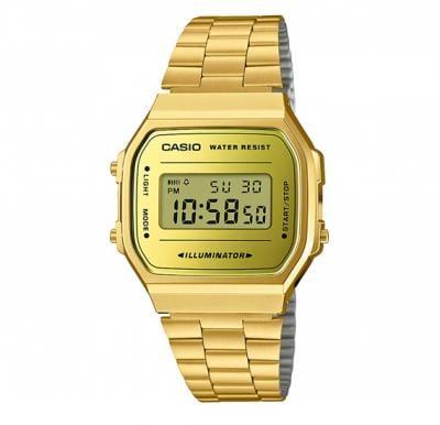 Casio A-168WEGM-9DF Vintage Collection Digital Watch, Gold