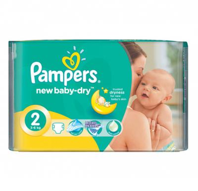 Pampers Active Baby  CP No.2 Small (3-6kg) 46pcs