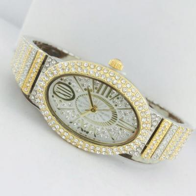 Catwalk Fashionable Cz Stone Covered Analog Stainless Steel Silver Dial Watch for Women, CW1020