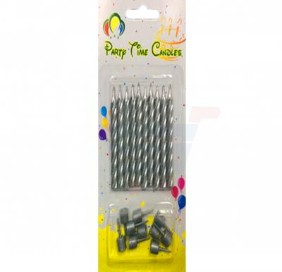 Party Time Silver Candle N002-1