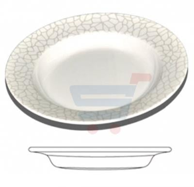 Royalford Melamine Ware 10 inches Deep Plate - White Pearl RF4490