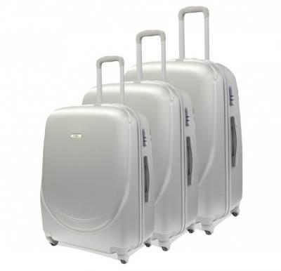 Traveller Abs 4 Wheel Trolley Set 20, 24, 28 Inch - Gray