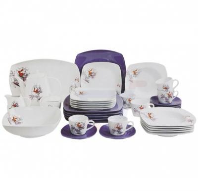 Flamingo Porcelain Square Type Dinner Set 37 PCS - FL7709PDS
