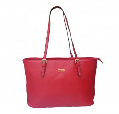 Core 900 Tote Bag for Women - Pure Leather, Red Color