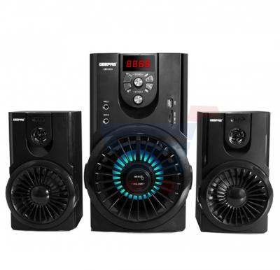 Geepas 2.1 Channel Multimedia Speaker With Video Output  GMS8489, Karaoke FM Radio, USB / SD Card Reader And Mic