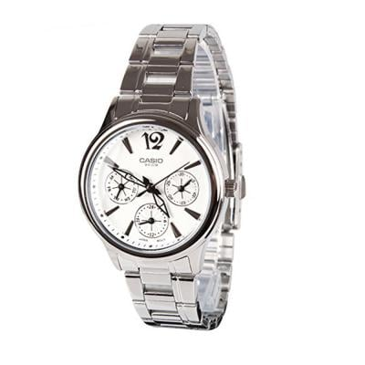 Casio Enticer Analog White Dial Womens Watch, LTP-2085D-7AVDF