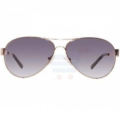 Guess Aviator Gold/Black Frame & Grey Gradient Mirrored Sunglasses For Unisex - GU6827-10B