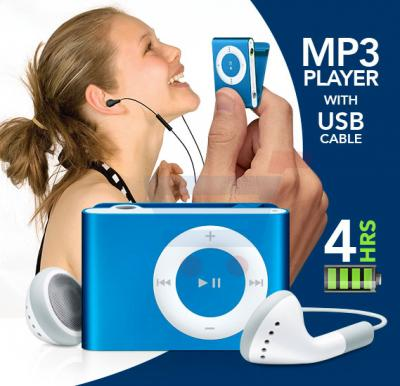 MP3 Music Player with USB Cable and 4 hours battery backup