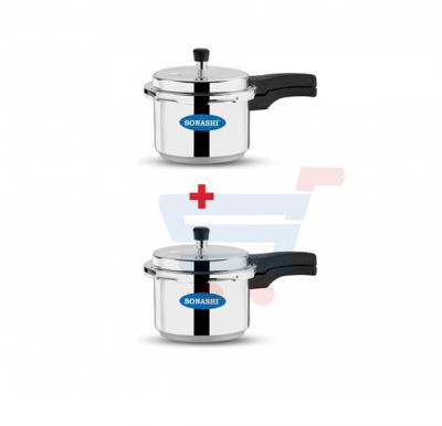 Bundle-Combo Offer Sonashi 3 Liters Pressure Cooker 2 Pieces SPC-230 + SPC-230