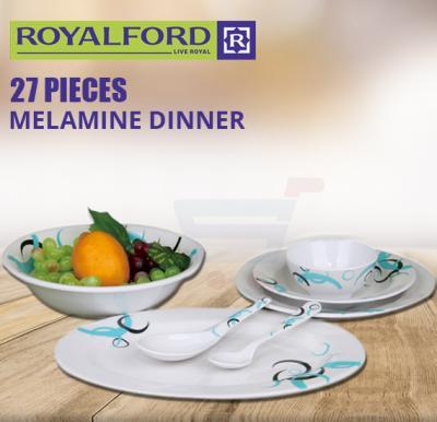 RoyalFord 27 Pieces Melamine Dinner Set - RF6722