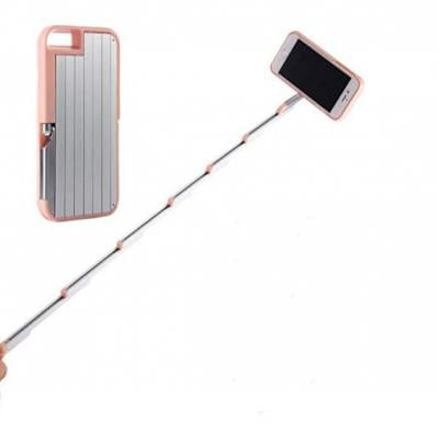 Foldable PC Aluminum Selfie Sticks Phone Case for iphone 6 6S 4.7inch Self-stick