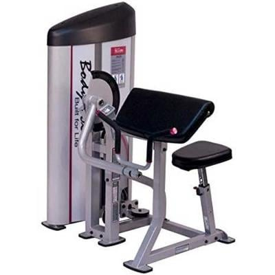 Body Solid S2AC PC2-Seated Arm Curl Machine with 160 lb Stack