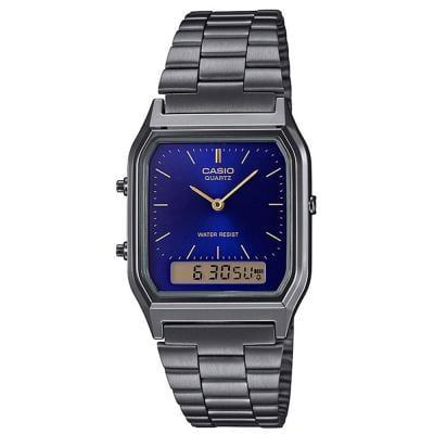 Casio Analog Digital Blue Dial Unisex Watch, AQ-230GG-2ADF