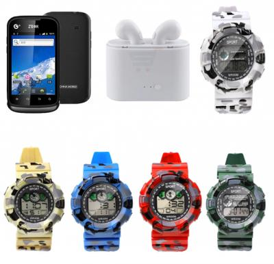 7 In 1 Bundle Offer Mobile Phone Zte U 790 Plus 5 Watches And Twin Bluetooth