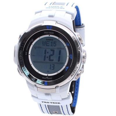 Casio Pro Trek Triple Sensor Mens Quartz Watch, PRW-3000G-7DR