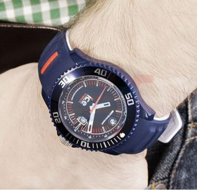 Ice Watch BMW Dark Blue Band Watch For Men - BM.SI.DBE.B.S.13