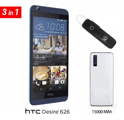 Htc desire 626 smart phone with free earset & power bank 15000 mah
