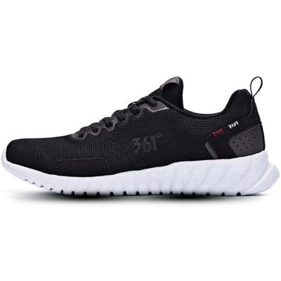 361 Degrees Training Men Synthetic Leather Shoes Black