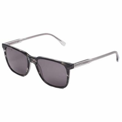 Lacoste L910S Crystal Gray Square Sunglasses For Men Gray Lens, Size 54