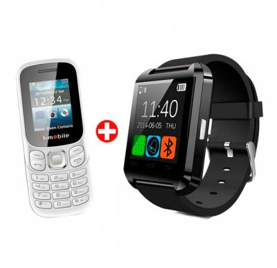 Bundle Offer! Buy Mid Sun Bluetooth Smart Watch and Get H Mobile B312 Mini Cell Phone Slim Mobile Phone FREE