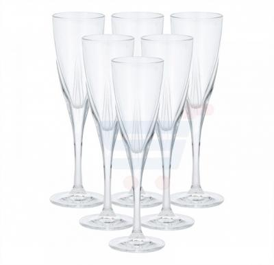 RCR Fusion Crystal Glass Champagne Flute 6 Pieces