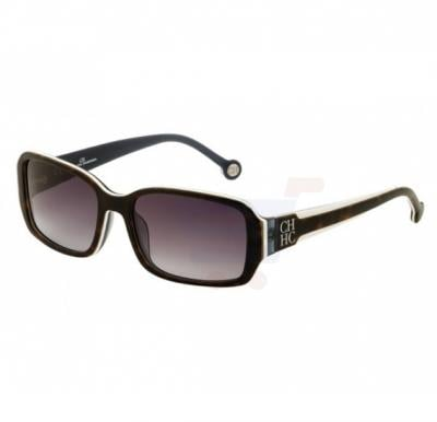 Carolina Herrera Round Beige Frame & Gradent Brown Mirrored Sunglasses For Women - SHE540-02A1