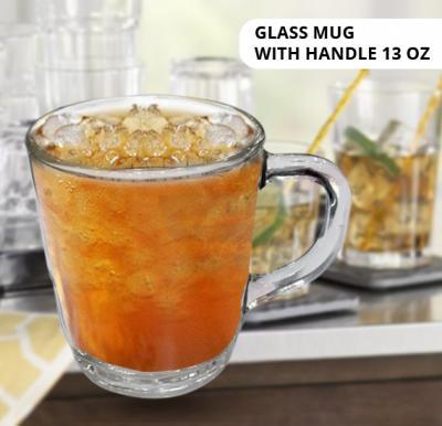 Glass Coffee Mugs with Handle 13 oz