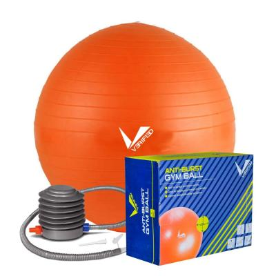 Liveup Anti-Burst Ball with Hand Pump 65cm LS3222, Orange