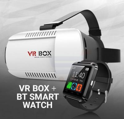 Bundle Offer Bluetooth Smart Watch And Get VR Box Virtual Reality 3D Glasses Free