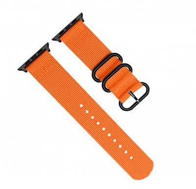 Promate High-Quality Adjustable Nylon Sport Apple Watch Band 42mm and 44mm, NYLOX-42, Orange