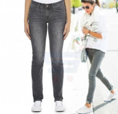 Slim Leggings Like Jeans For Women Grey, Free Size