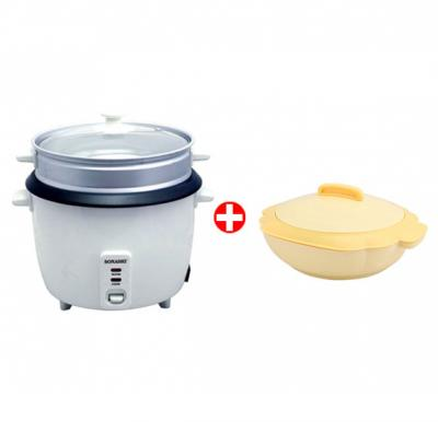 Combo Offer! Sonashi 1.8 Ltr Rice Cooker with Steamer SRC-318 & Get Sonashi 1800ml Single Casserole SCR-1800P FREE