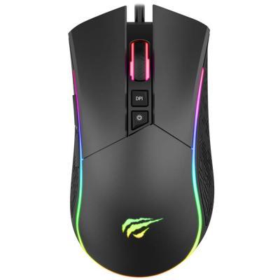 Havit MS1001A RGB Backlit RGB Gaming Mouse, Black