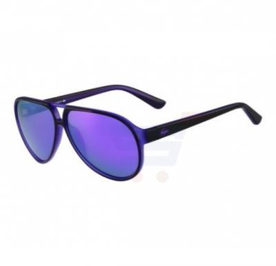 Lacoste Oval Black / Violet Frame & Violet Mirrored Sunglasses For Unisex - L714S-005