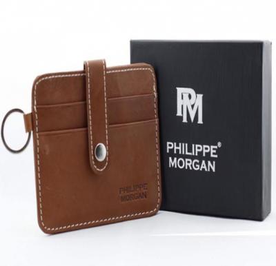 Philippe Morgan premium Leather Wallet PM016, Brown