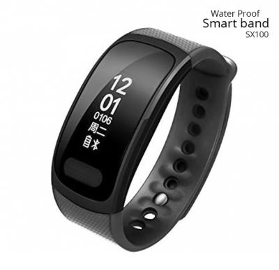 SX100 Water Proof Smart Band With Activity Tracking, Caller ID, Push Notification, blood oxygen monitoring, heart rate monitoring and Sleep Monitoing
