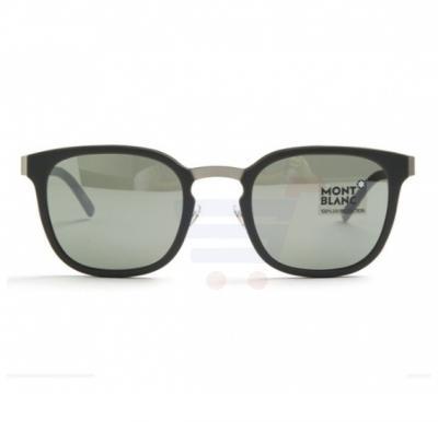 Mont Blanc Wayfarer Dark green Frame & Green Mirrored Sunglasses For Men - MB603S-97Q