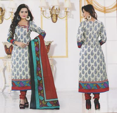 Pari 120 Cotton Printed Dress Material